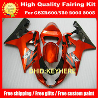 Wholesale Custom motor fairing bodykit for GSXR600 GSXR GSX R600 K4 Orange Black Fairings kit GUO