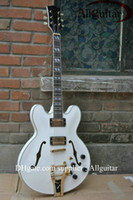 Wholesale White Jazz Hollow Electric Guitar With Bigsby Tremolo