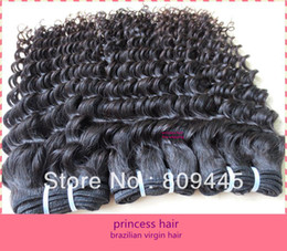 Wholesale Soft Deep Wave virgin brazilian human hair weave remy hair extensions b oz