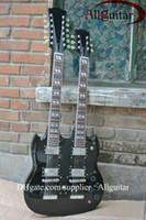 Solid Body 12 Strings Mahogany Black 1275 Double neck mahogany Electric Guitar New Style