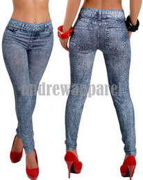 Wholesale 2013 New Jeans women girl Sexy Leggings Jeggings Tights Skinny Pants Jean tattoo leggings
