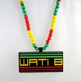 Multicolour WATIB reggae goodwood good wood nyc hip hop wood hiphop necklace