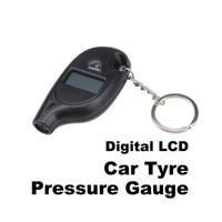 Wholesale Lowest Price Digital Car LCD Tyre Tire Pressure Gauge Keychain