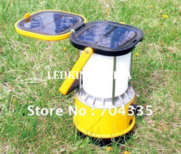 Outdoor Solar LED Hand Camping Lantern Light +2.2W solar Panel+2W Bright LED bulbs+Charging cable