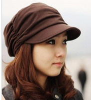 Wholesale Classic belt hair tail hat women s autumn and winter baseball newsboy badian painter cap female hat