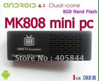 Wholesale Real MK808 Dual core Android TV Box Cortex A9 RK3066 GB DRR3 GB Nand Flash haha