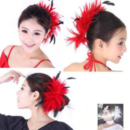 Wholesale Natural feather corsage large feather flower feather hair hair bride N color feathers