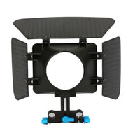 Wholesale New Simplified DSLR Matte box For mm Rail Rod Support System
