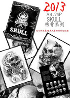 Wholesale new skull tattoo book magzine A4 size pc for exclusive tattoo supply