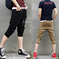 Wholesale high quality fashionable casual rib men s capri pants