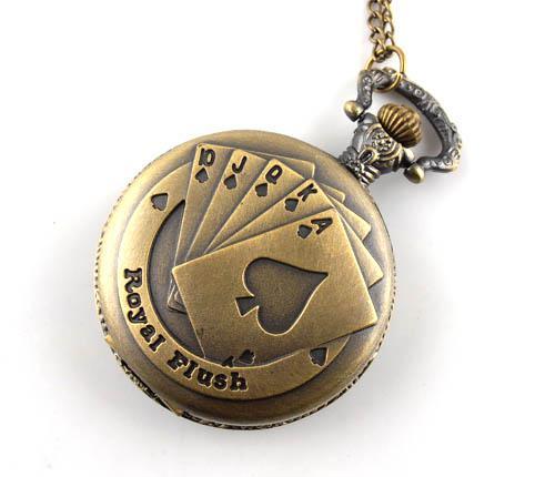 unisex bronze quartz pocket necklace vintage