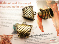 Wholesale 24pcs Scarf Accessories CCB bronze Tube Slide Buckle Pendant