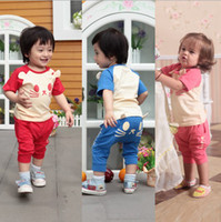 baby cat suit - 0 Year Summer baby outfits clothes sets lovly cat modelling short t shirt pants kids suits