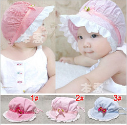 Wholesale baby a flower cap infant lovely sunhat princess hat boys and girls color leisure Caps jlbgmy