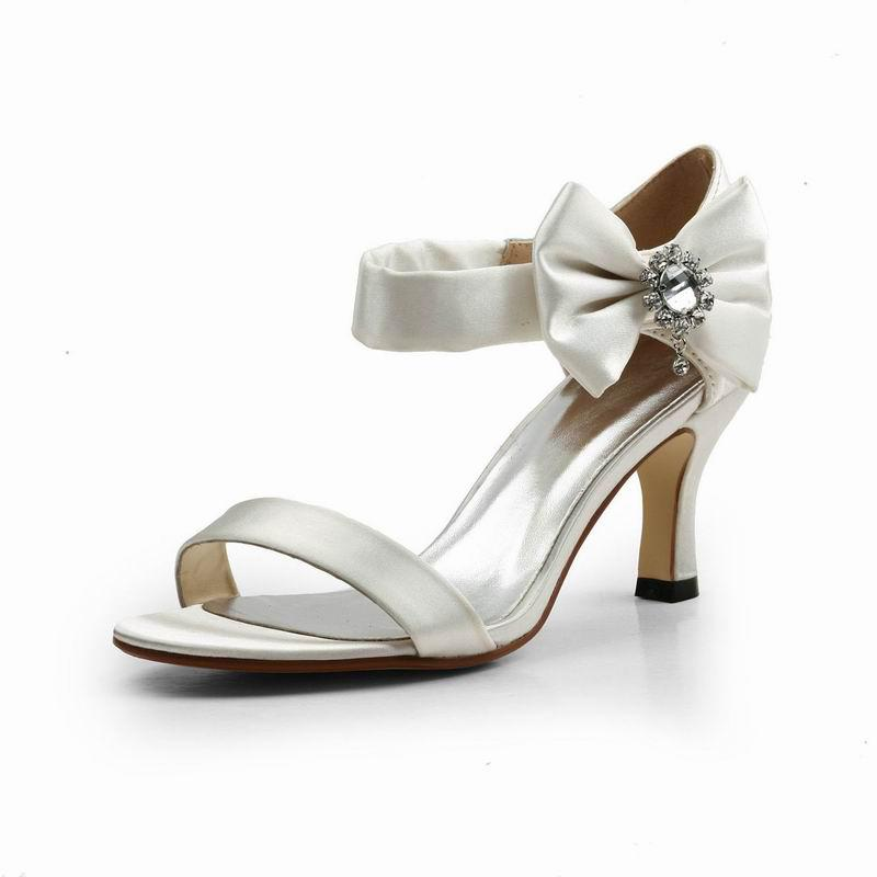 New 2013 Elegant Kitten Heel Sandals Wedding Shoes With Bowknot Th12116 Wedding Shoes For A