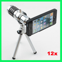 Wholesale For iphone S X Zoom Telescope Magnifier Camera Lens Kit Tripod Holder Case for iphone4 S