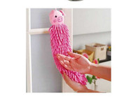 Wholesale Microfiber cartoon kitchen hand towel suspension type microfiber chenille Strong Absorbe