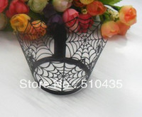 Wholesale laser cut spider halloween cupcake wrapper cake cup cake Surrounding edge