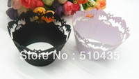 Wholesale laser cut Halloween Bat cupcake wrapper cake cup cake Surrounding edge