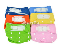 Wholesale Comfortable Washable Breathing Baby Cloth Diaper Nappies Magic Tape Closure