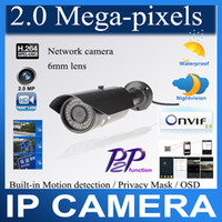 Wholesale P2P H ONVIF Megapixels HD P mm Lens Wired Infrared Waterproof Vandalproof IP Camera