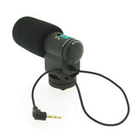 Wholesale New Mini MIC External Stereo Microphone for DSLR Camera Camcorder E0233A