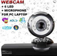 Wholesale NEW MEGA PIXEL M LED USB PC WEBCAM MIC free shopping
