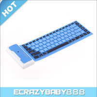 Wholesale Portable Bluetooth Wireless Keyboard Water proof Flexible Silicone Roll UP Keyboard
