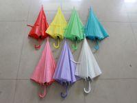 Wholesale eva solid color umbrellas stick pvc umbrellas promotional umbrellas free express