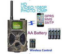 Wholesale infrared Trail Hunting Camera quot TFT LCD DVR IR MMS HC M Digital Trail Camera with GPRS