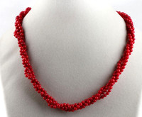 Wholesale Beautiful Handcrafted Natural Red Coral strands Necklace