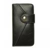 For IPHONE 5g LEATHER CASE WITH TOP LOCKING MAGNET BUTTON AND CARD HOLDER cover for iphone 5 case