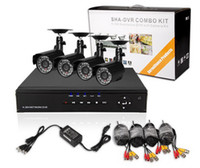 Wholesale 8CH H Security Surveillance DVR Day Night Vision Weatherproof Camera CCTV System H018