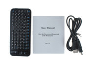 Wholesale Top quality iPazzPort GHz Mini Wireless Air mouse amp keyboard KP A with IR Remote