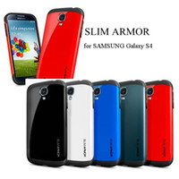 Wholesale Promotion Spigen SGP Slim Armor Cover for Samsung Galaxy S4 note Case for Apple iphone c s iphone5 retail package DHL freeshipping