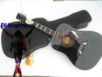 Wholesale New Black DOVE Acoustics Guitar With Hard Case FROM China guitar factory