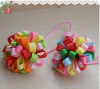 Wholesale Colorful Korker Hair Bow Elastic Girls Hair Clips Boutique Corker Hair Clips Kids Ornament
