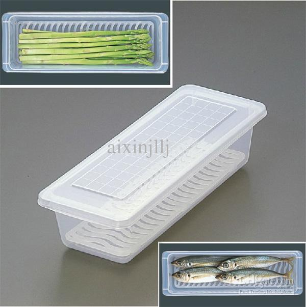 Drain Crisper Transparent Food Container Fish Containers Refrigerator Storage Boxes Organization Crispers Containers Storage Boxes Online with $60.11/Piece ... & Drain Crisper Transparent Food Container Fish Containers ... Aboutintivar.Com