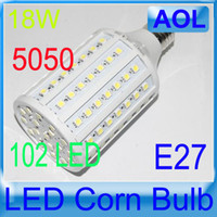 Wholesale 5050 SMD LED Lamp E27 W Warm White White LED Corn Light Bulb V V E14 B22 G24 LM