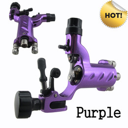 Wholesale Sales Dragonfly Rotary Tattoo Machine Gun Purple Color For Tattoo Needle Ink Cups Tips Kit