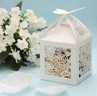 Wholesale Butterfly Cut out Floral Wedding Favor Boxes Bridal Shower Gifts Holder