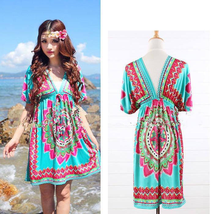 Boho Tunic Dress Dress Floral Boho Casual