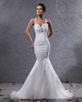 Wholesale Custom Design New Style Mermaid Strapless Wedding Dresses Organza Wedding Dress Gowns H561