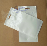 Wholesale 16x8 cm Clear white Retail package bag plastic packing bag box for mobile phone accessories