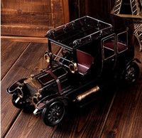 Wholesale Retro Antique Ford Motor vintage cars Iron Diecast Cars Model Vehicle home decor