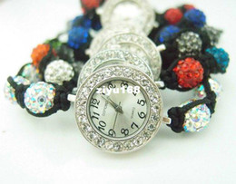 Wholesale Holiday sale shamballa bracelet watch women ladies fashion shamball crystal bea