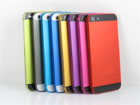 Wholesale Metal Back Cover Housing Colored Battery Door for iphone G With Side Button Multi colors