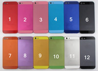Wholesale Metal Back Cover Housing Colored Battery Door for iphone G With Side Button Set