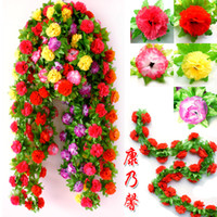 Wholesale High end artificial flowers carnation flower vine air conditioning pipe decorative flower vine