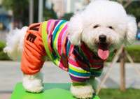 Wholesale rainbow colorful dog clothes clothing coat ourwear love style XS L